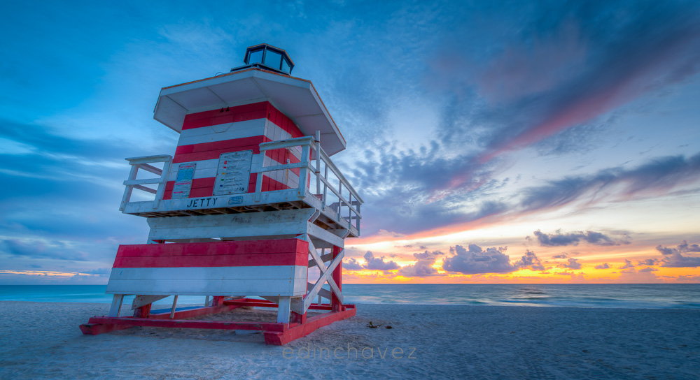 Miami Beach Life Guard Tower Series By Edin Chavez