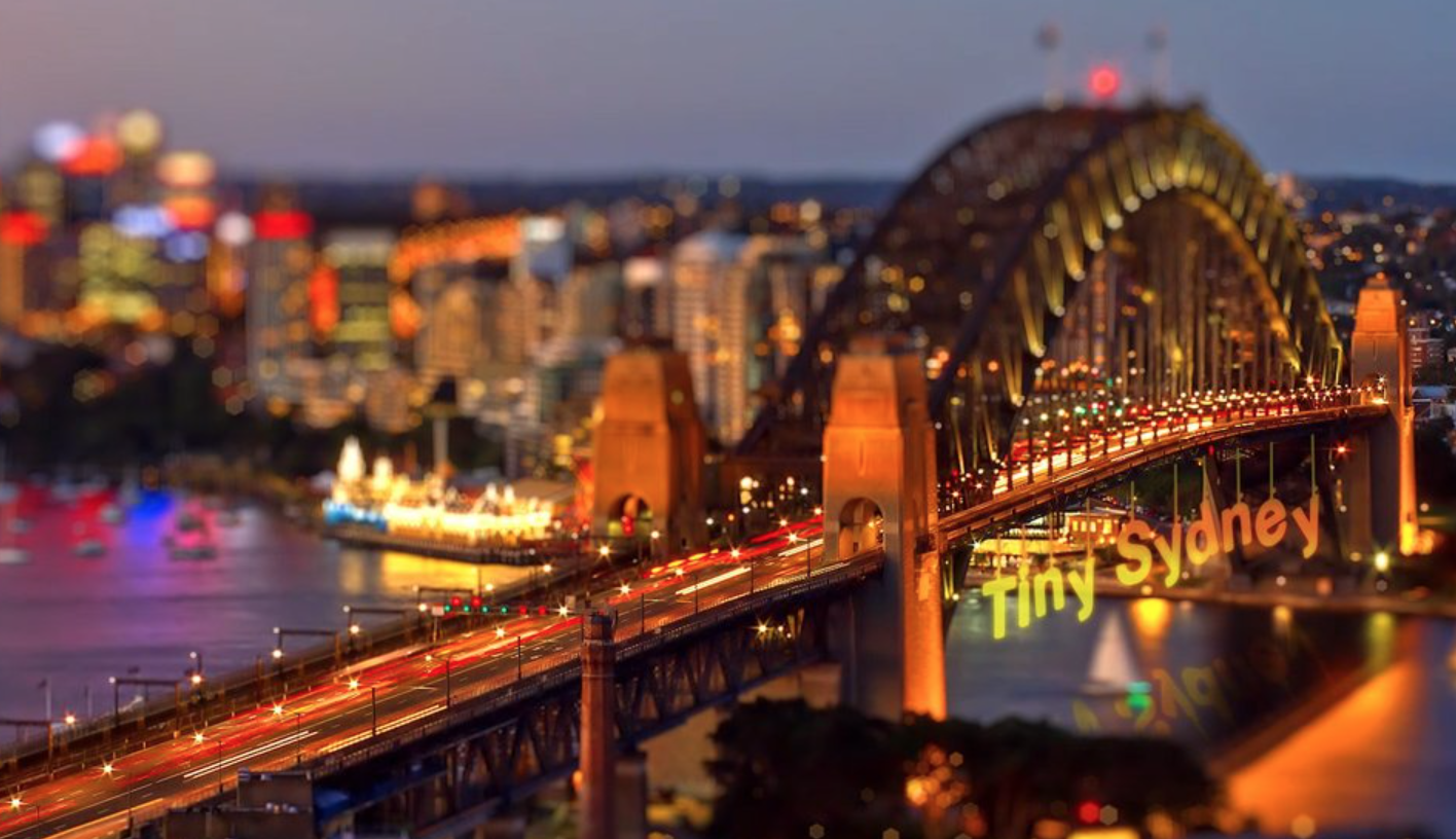 Tiny Sydney, a short tilt-shift film showing the city of Sydney