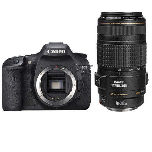 Canon EOS 7D DSLR Camera with 70-300mm Lens Kit  $1000 OFF