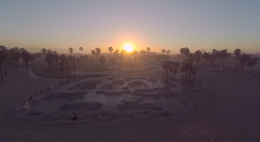 Incredible Aerial video in Venice Beach California
