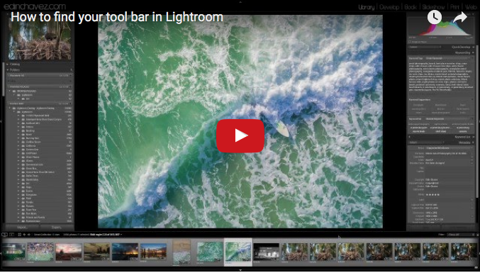 How to find your tool bar in Lightroom