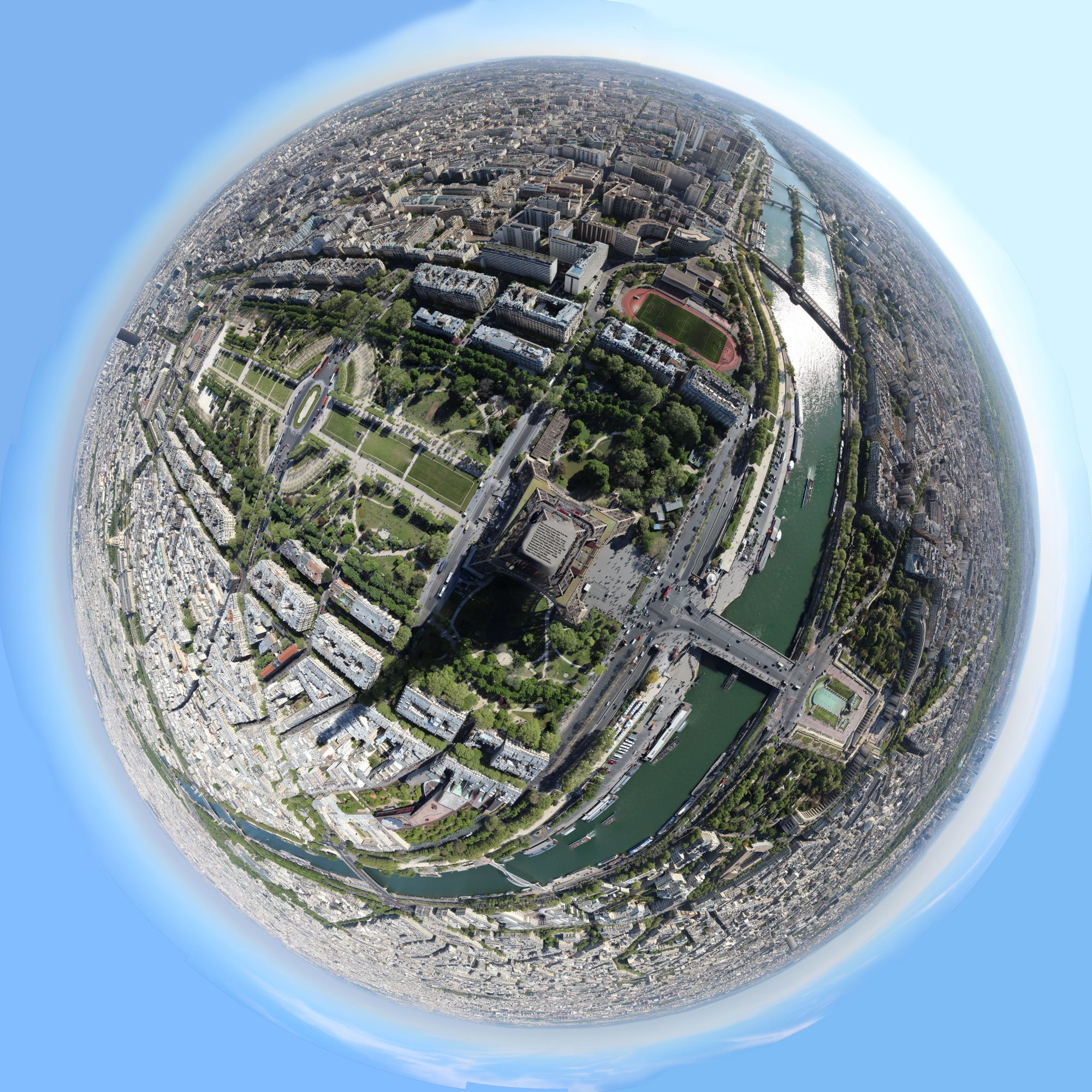 Eiffel Tower View Planet Panorama