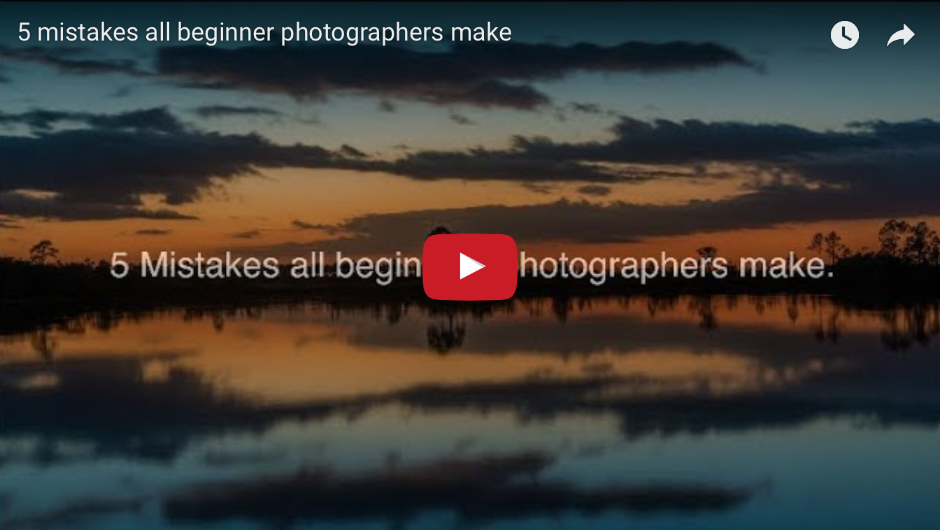 5 mistakes all beginner photographers make