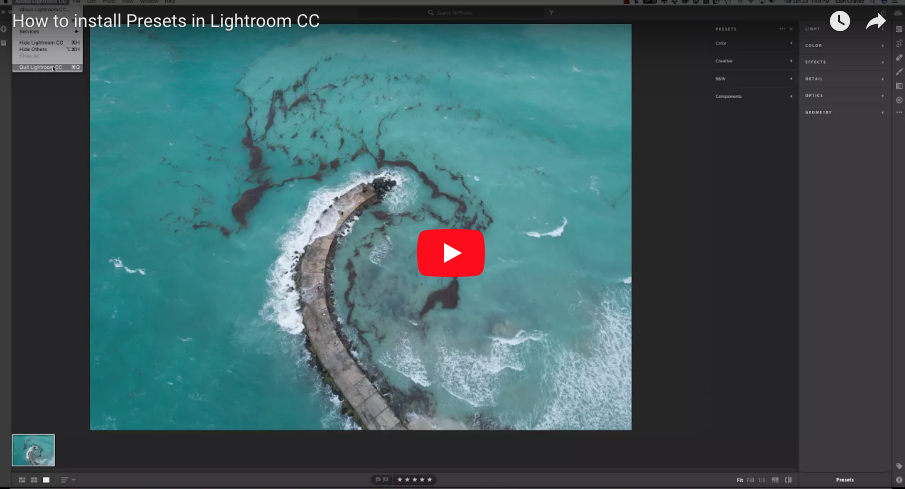 How to install Lightroom Presets in CC