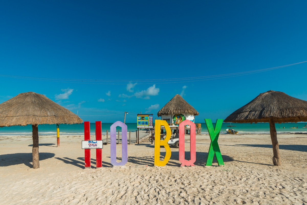 Holbox Mexico Sign location