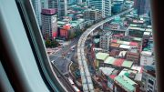 how to travel stress free, plane view of Taiwan